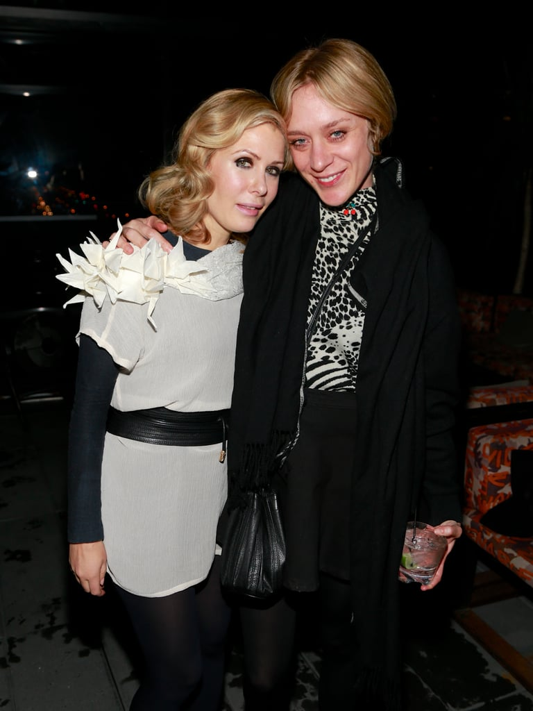 Designer Tara Subkoff and Chloë Sevigny posed together at Tara Subkoff's fashion art performance on Saturday.