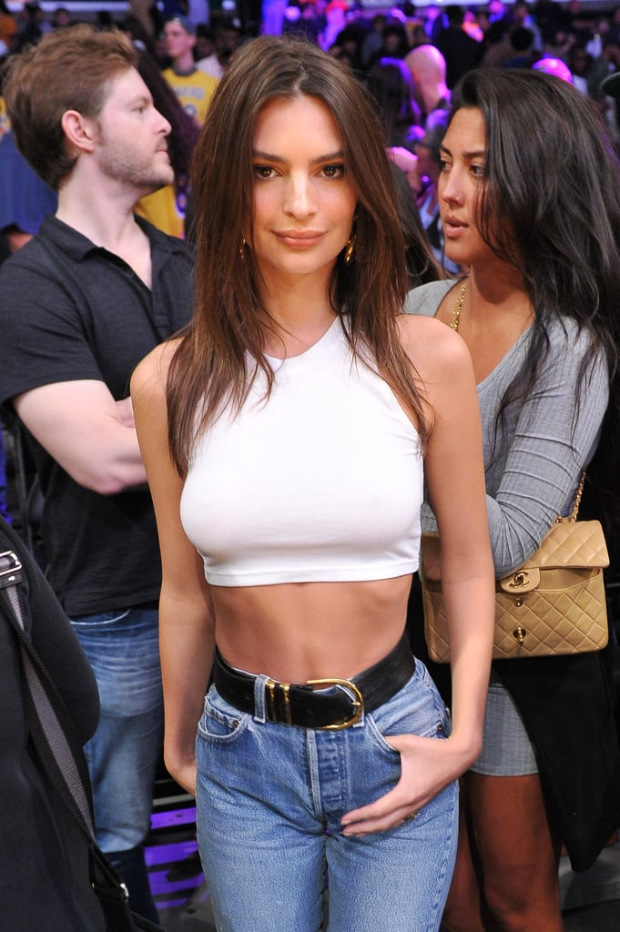 See More Pics of Emrata at the Lakers Game