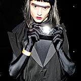 Crystal Renn showed off her dark side at V Magazine's Halloween party in 2011.