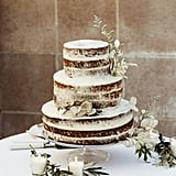 Lightly Frosted Cake With Leaf Details