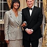 Prince Harry attended a reception before a state dinner with Jamaica's prime minister.