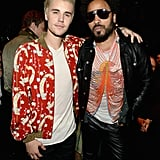 Pictured: Lenny Kravitz and Justin Bieber