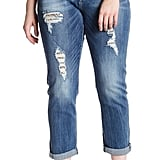 Seven7 Rolled Destructed Skinny Jeans