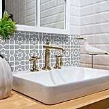 Lithe Soft Gray and White Tile Stickers