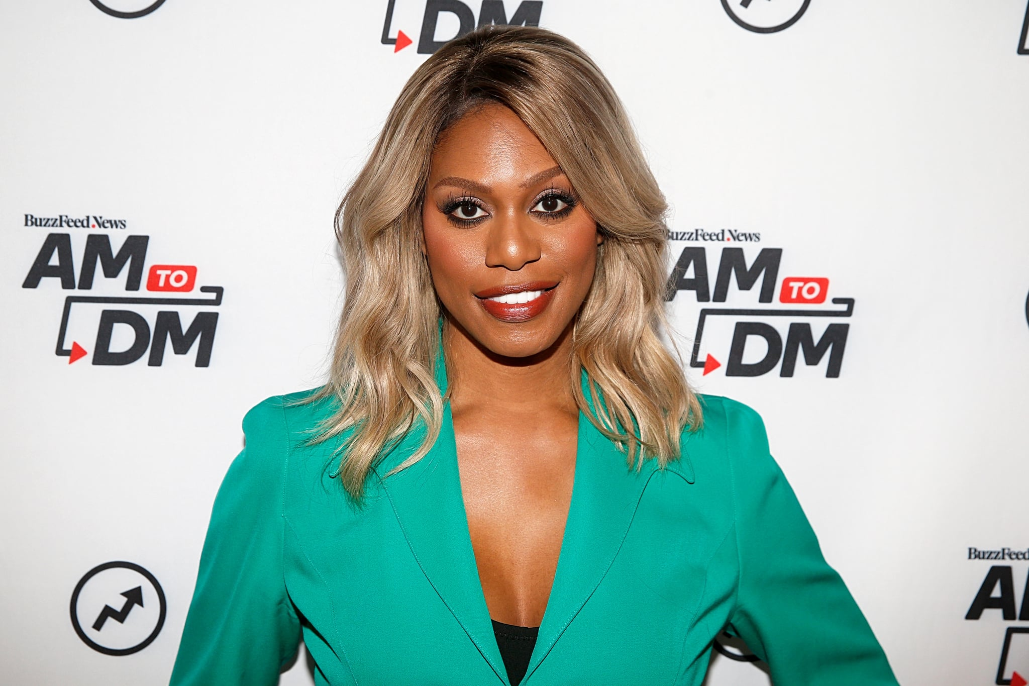 NEW YORK, NEW YORK - OCTOBER 07: Laverne Cox attends BuzzFeed's