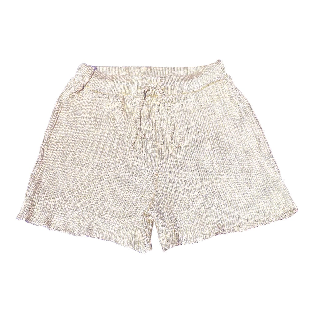 Shop Sophie's Calle Del Mar Ribbed Shorts in Beige