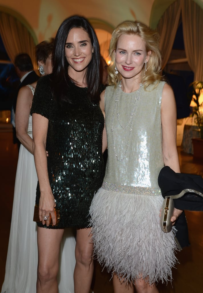 Jennifer Connelly and a feather-clad Naomi Watts struck a pose.