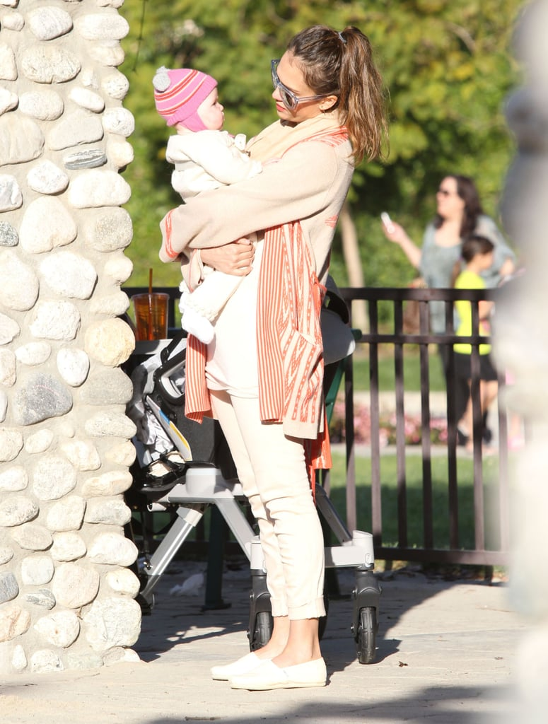 Jessica Alba took Haven Warren to the park in LA Sunday.