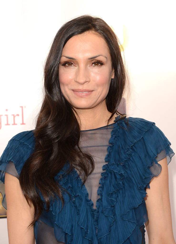 Famke Janssen smiled for photographers at the Critics' Choice Awards.