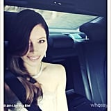 Presenter Jessica Biel snapped a selfie in the car en route to the Oscars. Source: Instagram user jessicabiel