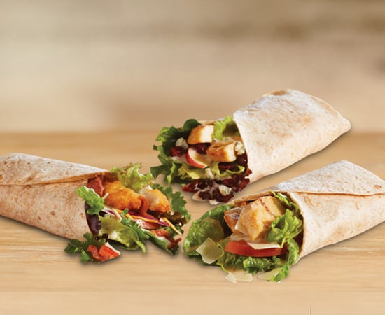 Chicken, Apple & Cranberry Salad Wrap | Healthiest Burger ...