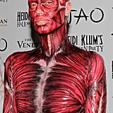 Heidi Klum is almost unrecognizable as a skinless body!