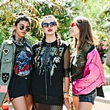 Festival-goers show off their style at the POPSUGAR pool party.