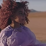 "Blue Ivy's Burgundy Natural Hair in ""Spirit"" Music Video"