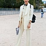 The most elegant of day-suiting in creamy white.