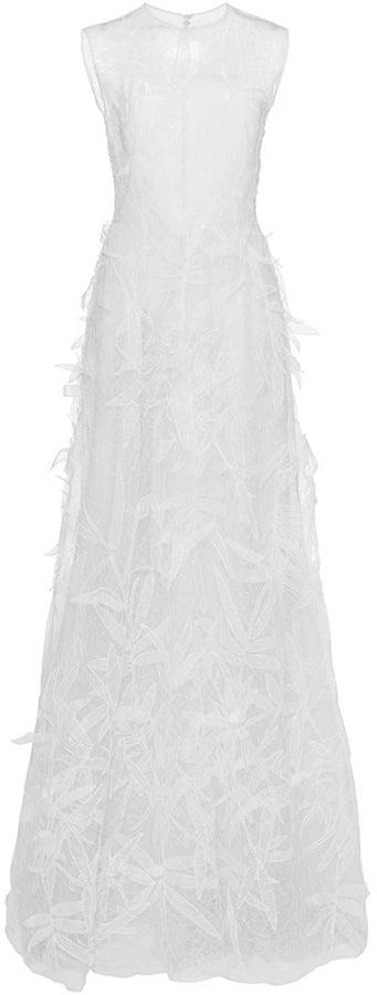 Costarellos Gossamer Applique Leaves Gown ($9,310)