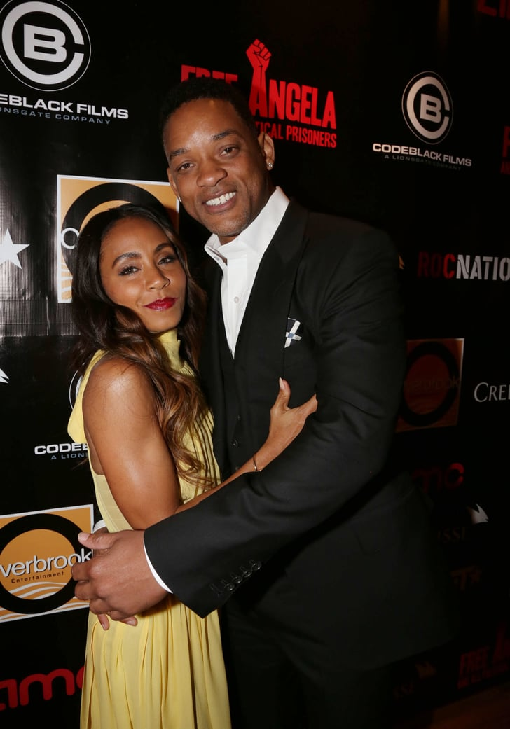 Will Smith And Jada Pinkett Smith Cuddled On The Red