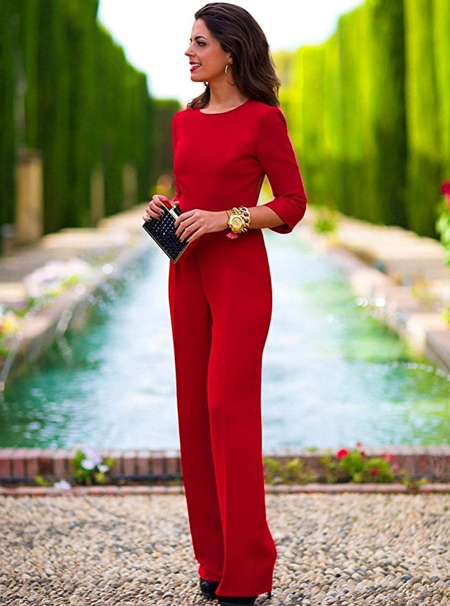 aro lora backless red jumpsuit amazon jumpsuits popsugar fashion photo 1. Black Bedroom Furniture Sets. Home Design Ideas
