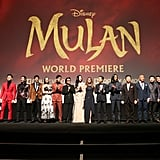 The Cast of Mulan at the World Premiere in LA