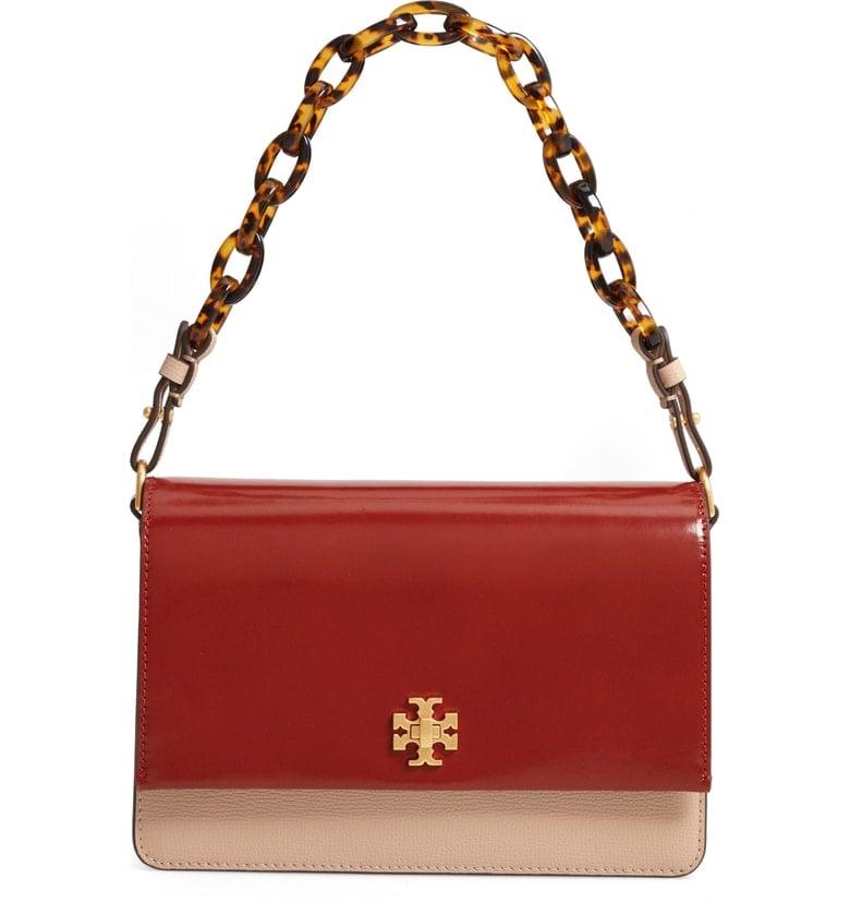 Tory Burch Kira Colorblock Leather Shoulder Bag