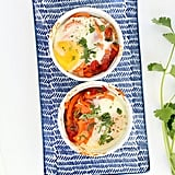 Spanish Baked Egg and Sweet Potato Noodle Bowls