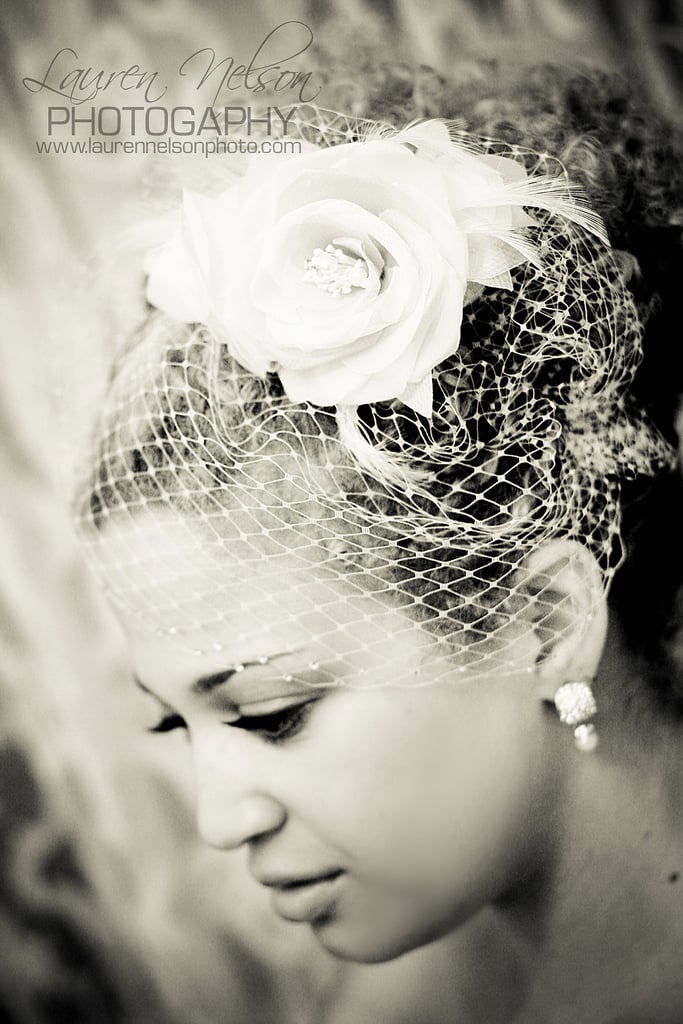 We've already established just how chic birdcage veils can be, especially when paired with long, lush eyelashes, as evidenced by this bride's fashionable style. Source: Flickr user [lauren nelson]