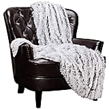 Chanasya Soft Shaggy Frosting Tip Longfur Throw Blanket