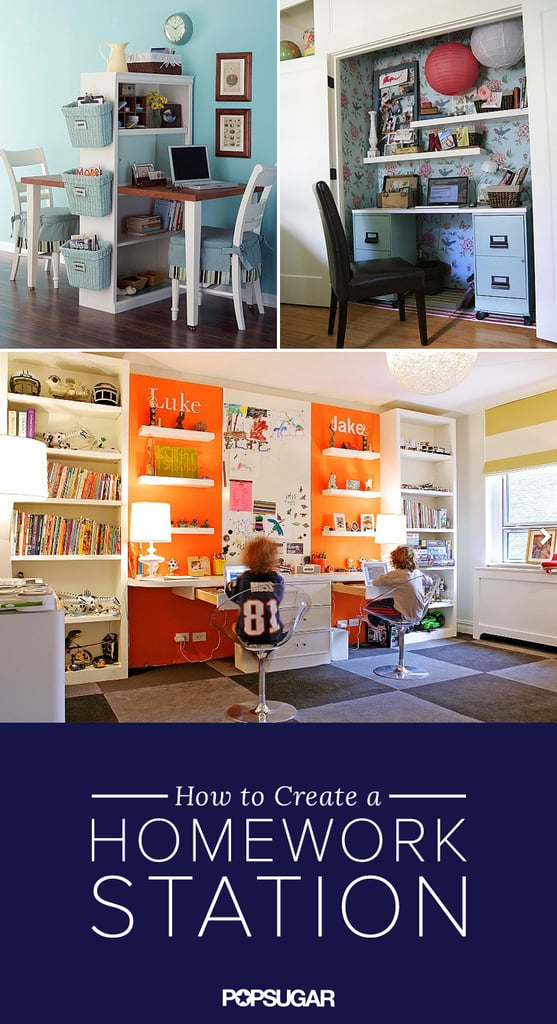 Encourage Homework Diligence With an Inspiring Study Station