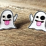 Ghost emoji earrings ($6)