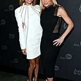 Nicole Richie and Tracy Anderson attended the AOL Digital Content NewFront in NYC in Apr. 2013.