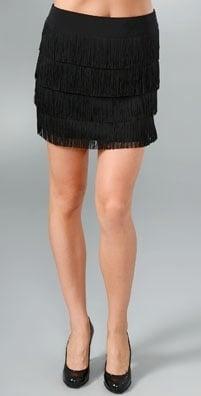 The Look For Less: Nanette Lepore Carwash Fringe Mini Skirt