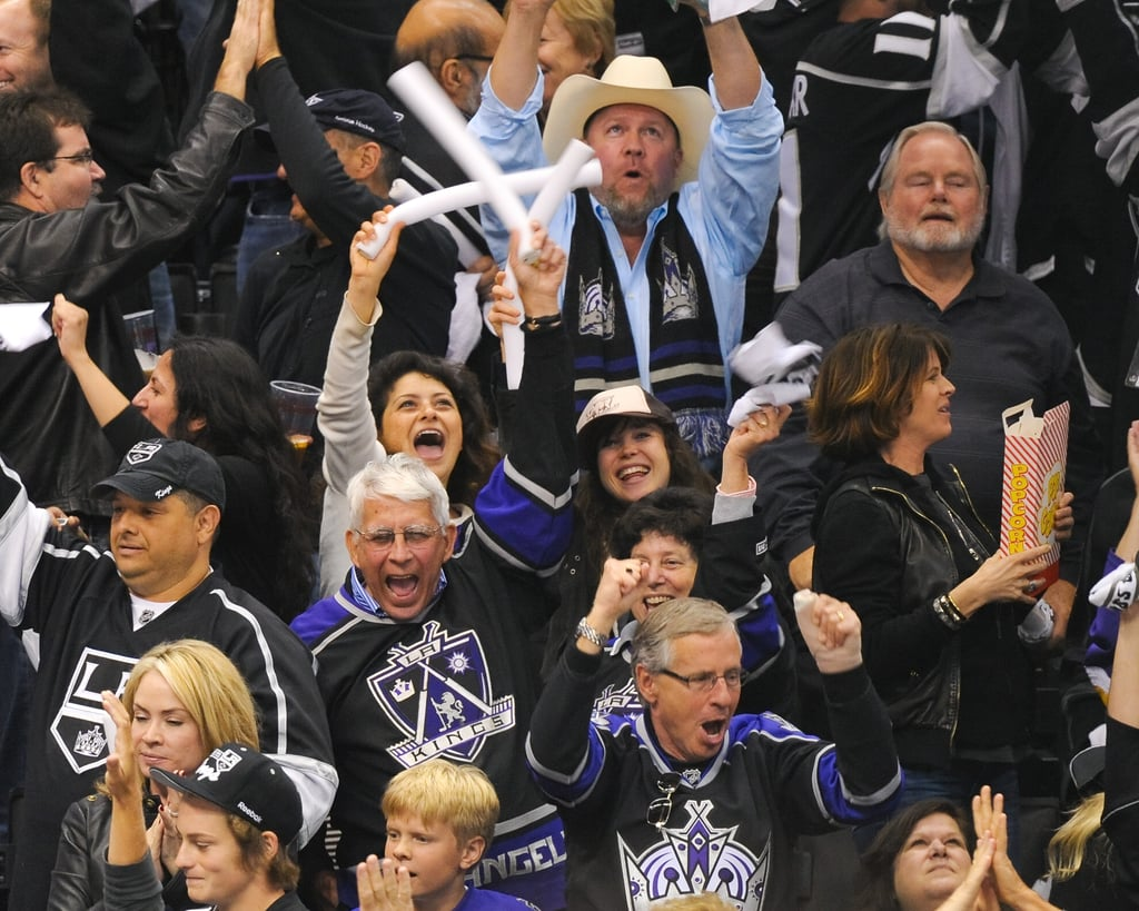 Diane and Josh Cheer on the LA Kings to a Big Win With David, Brooklyn, Romeo and More