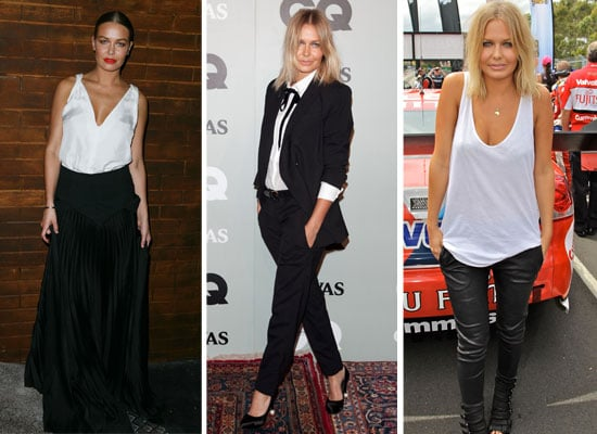 pictures of lara bingle wearing black and white  scope the models u0026 39  monochrome style cv in