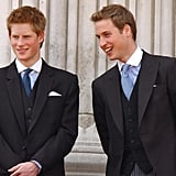 They stood together during the Trooping the Colour festivities in June 2003.
