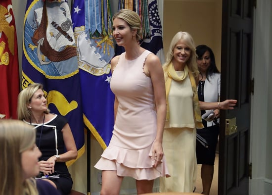 Ivanka Trump Wearing Pink Dress From Her Clothing Line
