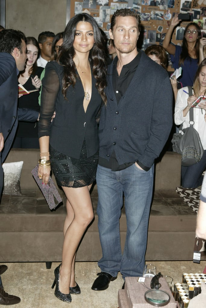 Matthew McConaughey had fiancée Camila Alves by his side last night at the Sao Paulo opening of the retailer Le Lis Blanc Noir Boutique flagship store. They're in Camila's home country of Brazil, where Matthew is an international spokesman for the South American chain. Matthew and Camila spent Easter in Texas, relaxing with friends and loved ones. Matthew, Camila, Levi, and Vida relocated to Austin a few months back to be closer to his family. It sounds like Matthew could be spending more quality time with his best friend, Woody Harrelson, as well. Matthew and Woody may star in True Detective, an eight-part detective series about two officers who embark on a 17-year hunt to catch a serial killer. This isn't the first onscreen collaboration for Matthew and Woody, as they  previously collaborated on EdTV and Surfer, Dude.
