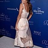 Eva Longoria struck a flirty pose at the Princess Grace Awards Gala in LA on Wednesday.