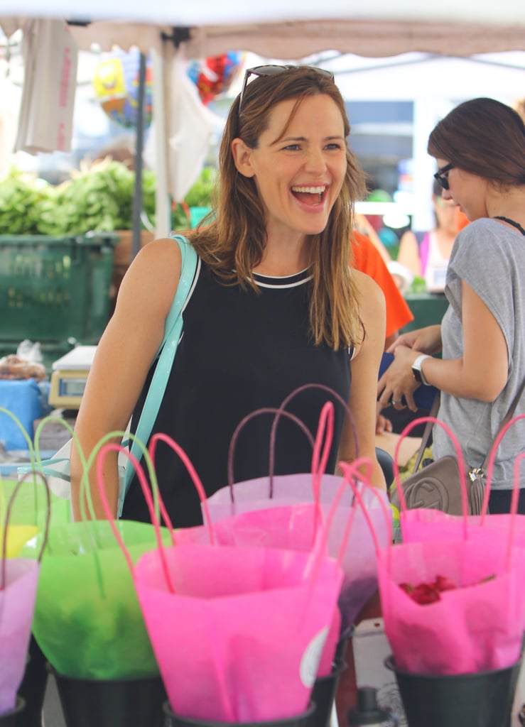 They may have split almost three months ago, but Ben Affleck and Jennifer Garner are still smiling! The former couple — who have continued to spend time together for the sake of their children, Violet, Seraphina, and Samuel — spent Sunday at a farmers market in LA. They picked up produce and flowers and loaded their groceries into the back of a car before going their separate ways. The family outing was just one of many they've shared since the announcement of their divorce in late June, including a trip to Disney World as a fivesome in August for Ben's 43rd birthday. Scroll through to see their latest smiley photos.