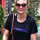 Kirsten Dunst Works Up a Sweat on Her Way to Cannes