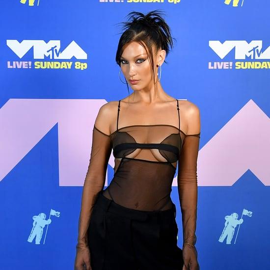 Bella Hadid's 90s Hair and Makeup at 2020 MTV VMAs