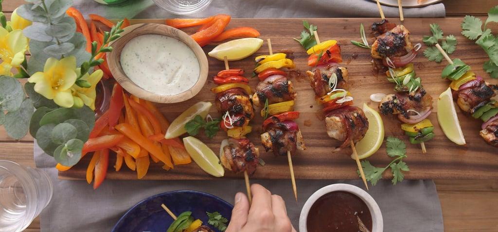 Ranch Bacon Chicken Skewers Recipe