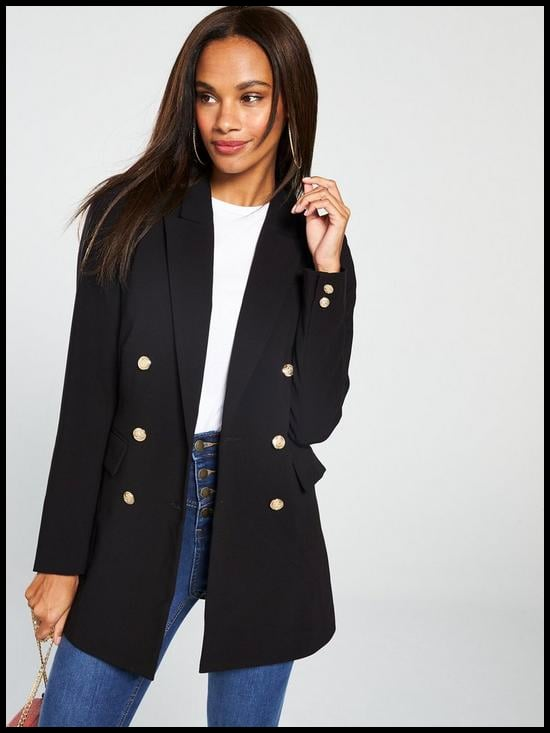 V by Very Long Line Military Jacket