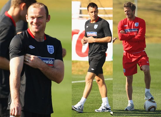 Pictures of David Beckham at a Training Session With the England World Cup Team in South Africa Ahead of Germany Match