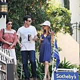 Jon Hamm and Jennifer Westfeldt at an open house in Los Feliz.