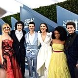 طاقم عمل مسلسل Stranger Things في حفل جوائز نقابة ممثلي الشاشة SAG لعام 2020