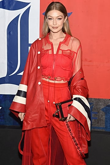 Gigi Hadid Red Tommy Hilfiger Outfit September 2018