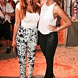 This twosome stayed chic in slim bottoms and crisp white tops.  Source: David X Prutting/BFAnyc.com