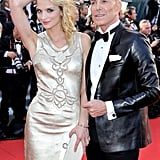 Jean-Claude Jitrois and Sarah Marshall hit the red carpet looking stylish at the opening of the Cannes Film Festival and premiere of Moonrise Kingdom.