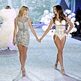 When we confused Taylor Swift (walking with good friend Lily Aldridge) for one of the models in 2013