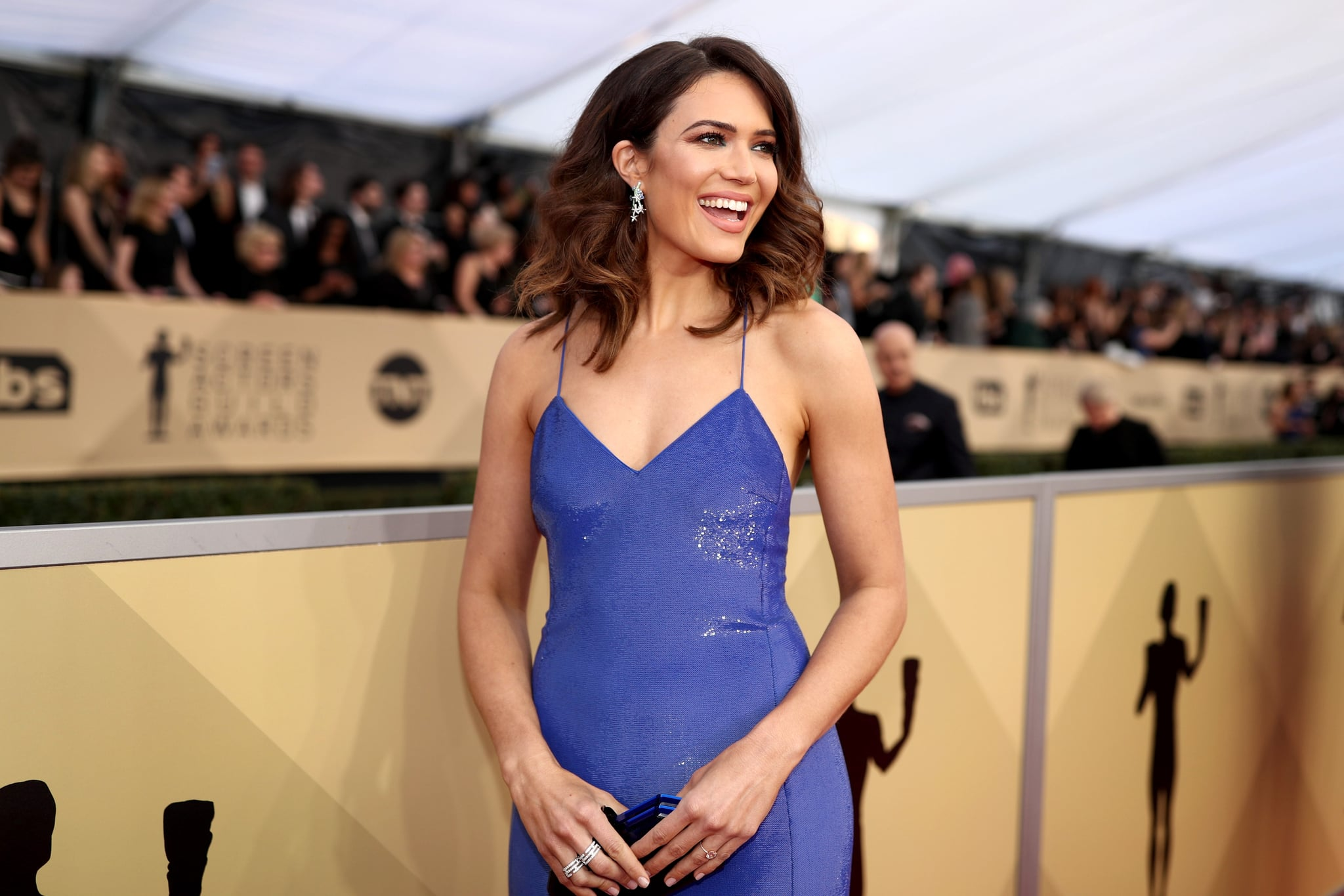 LOS ANGELES, CA - JANUARY 21:  Actor Mandy Moore attends the 24th Annual Screen Actors Guild Awards at The Shrine Auditorium on January 21, 2018 in Los Angeles, California. 27522_010  (Photo by Christopher Polk/Getty Images for Turner)